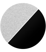 grigio metallizzato/diffusore nero