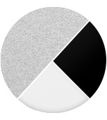 grigio metallizzato/diffusori bianco-nero