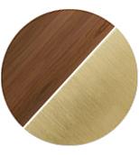 legno/ottone satinato