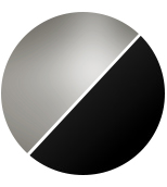 Schwarz-Streuscheibe Edelstahl
