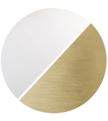 matt brass/white