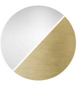 matt brass/crystal