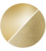 matt brass/amber